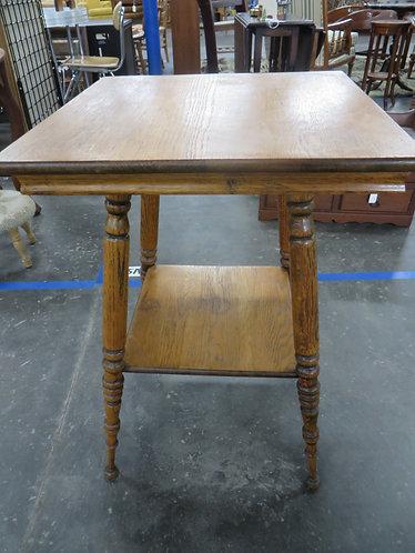 Vintage Oak Two Tier Table