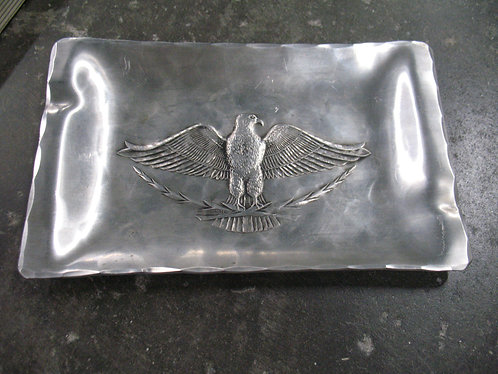 Vintage Wendell August Forge Pewter Eagle Ashtray