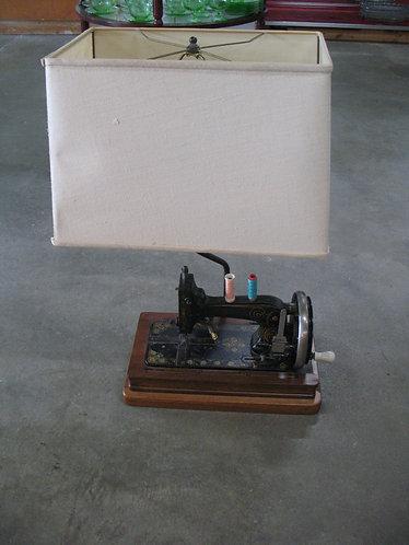 Antique Vesta Hand Crank Sewing Machine Lamp