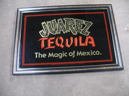 Vintage Juarez Tequila Mexico Bar Mirror