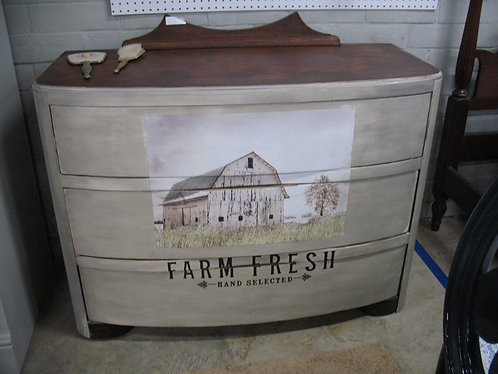 Farm Fresh Barn Three Drawer Bow Front Dresser