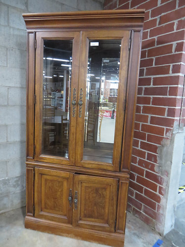 Vintage Glass Front Hutch