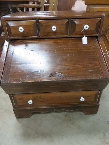 Vintage Solid Wood Storage Cabinet