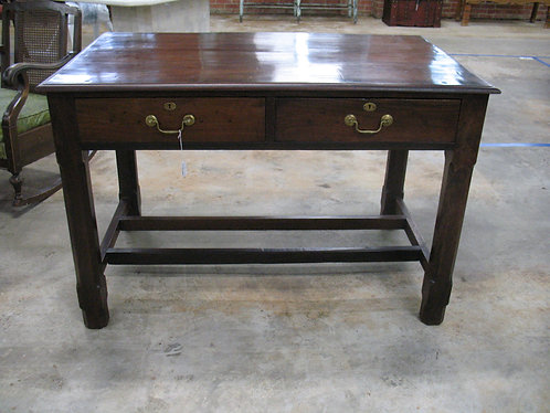 Vintage Rustic Farmhouse Two Drawer Table Desk