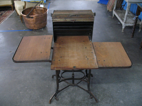 Antique Industrial Typewriter Table/Stand Desk by Toledo, circa 1910
