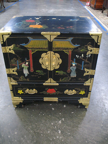 Vintage Chinese Hand Painted Floral Chest