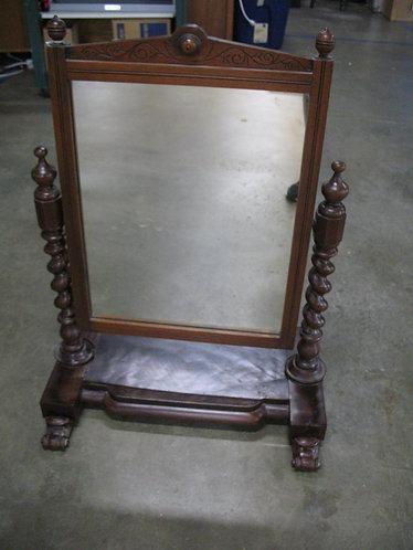 Antique Empire Barley Twist Shaving Dresser Mirror