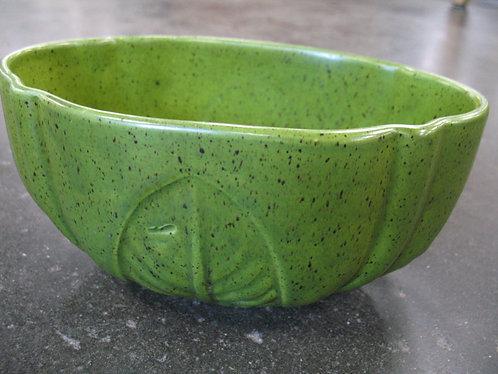 Vintage Haeger USA Green Speckled Leaf Planter
