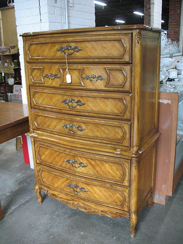 Vintage Stanley Furniture French Country Highboy Chest