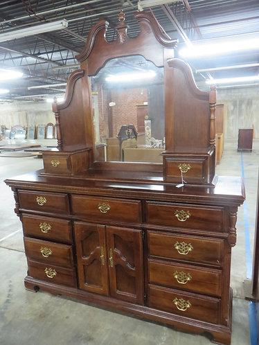 Vintage Queen Anne Style Dresser with Mirror