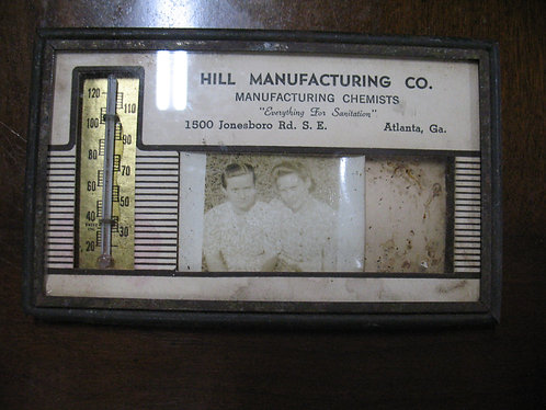 Vintage Advertising Hill Manufacturing Co. Atlanta, GA Thermometer Photo Frame