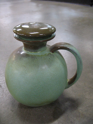 Vintage Frankoma 82 Prairie Green Carafe Decanter with Stopper