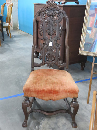 Antique High Back Victorian Side Chair