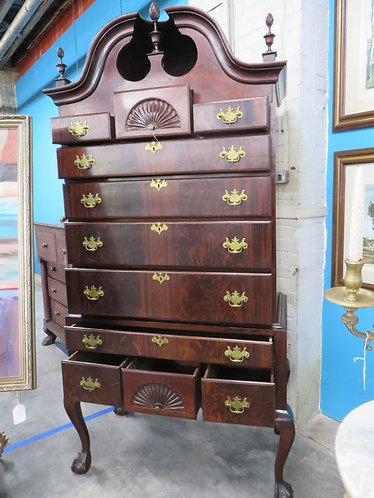 Antique (Circa 1870s-1880s) Chippendale Highboy Dresser