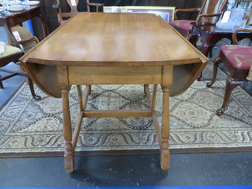 Vintage Oak Butterfly Drop Leaf Table with Drawer