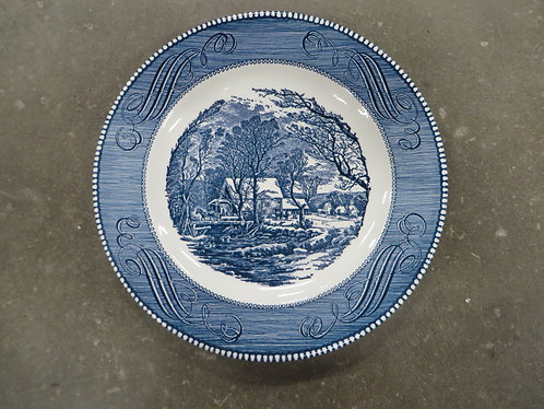 Vintage Made in USA Currier & Ives Dinner Plate
