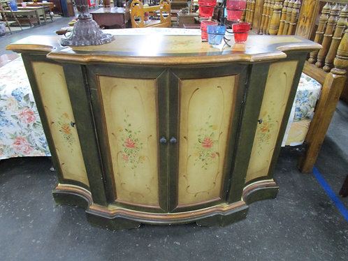 Modern Old Style Floral Entryway Table Cabinet