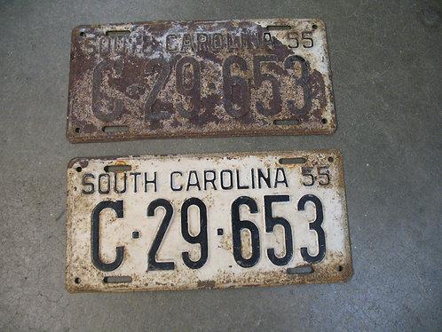 1955 South Carolina Matched Pair C-29-653