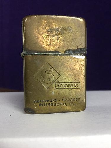 Vintage lighter, Stanwix Auto Parts, Damaged Hinge