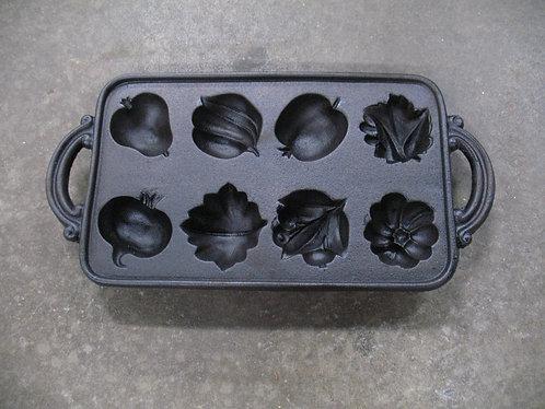 Vintage Fruit & Vegetable Cast Iron Baking Pan Mold
