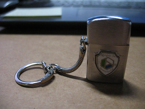 1974 World's Fair Spokane Washington Mini Keychain Lighter