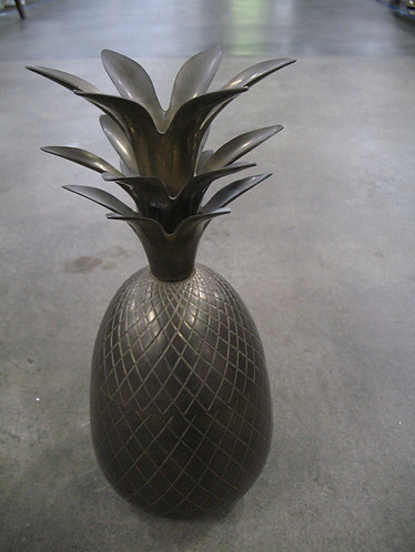 Vintage Made in India Brass Pineapple Candle Holder Canister