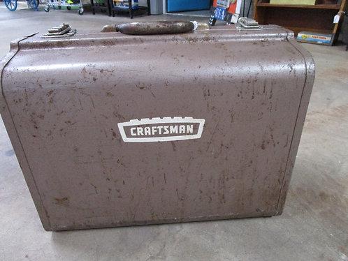 Vintage Craftsman Brown Metal Suitcase Style Toolbox