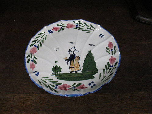 Vintage Blue Ridge Southern Potteries French Peasant Ribbed Serving Plate