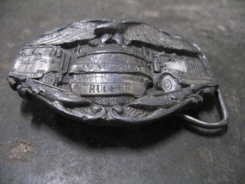 1986 Bergamont Brass Work Trucker Belt Buckle