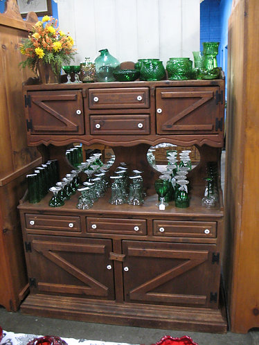 Vintage Farmhouse Z Door Small Buffet Hutch