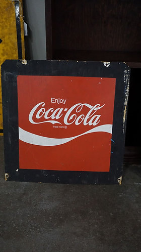 Vintage Coca-Cola Metal Double Sided Sign