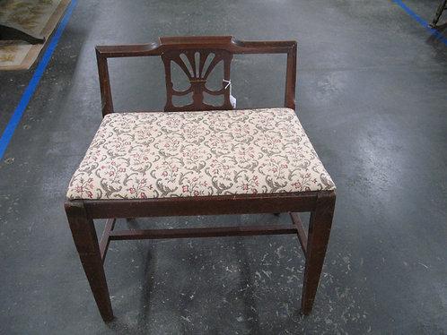 Vintage Wood Upholstered Vanity Chair