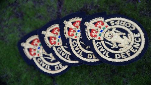 Original British WWII Embroidered Blitz Badge