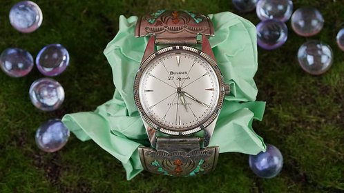 Watch, Bulova Self Winding 23 Jewels With Custom Band, 7 inches