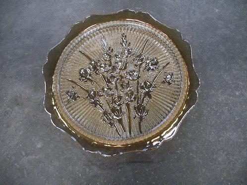 Vintage Jeanette Marigold Carnival Glass Iris & Herringbone Pattern