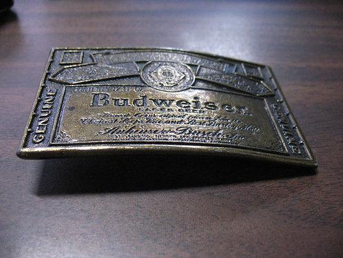 Vintage Anheuser Busch Budweiser Metal Belt Buckle