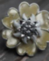 Scarf Clip Ivory flower.JPG