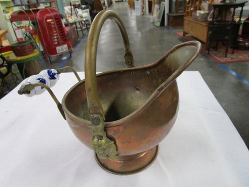 Antique Mini brass / Copper Coal Scuttle