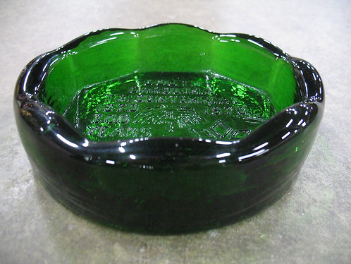 1970 South Carolina Tricentennial Green Glass Ashtray Bowl