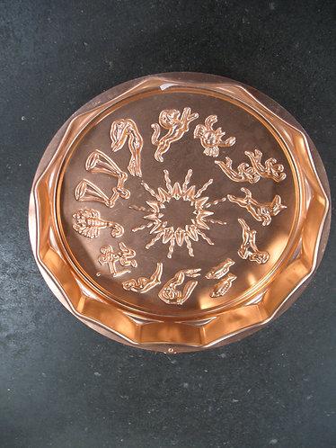 Vintage Aquarius 12 Cup Copper Mold Pan