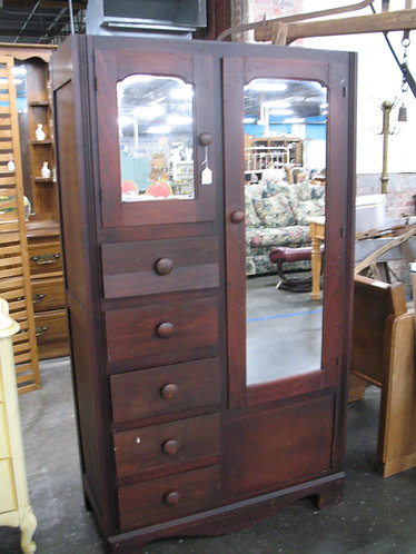 Vintage Solid Wood Wardrobe Cabinet