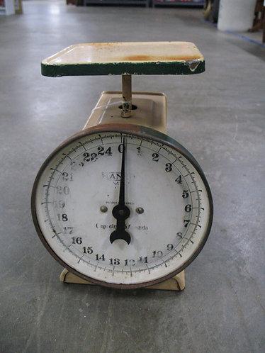 Vintage Hanson U.S.A. 25 Pound Enamel Family Scale