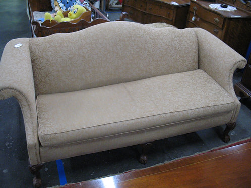 Vintage Camelback Claw Foot Sofa
