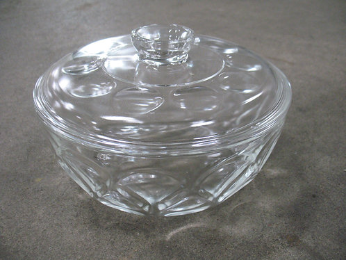 Vintage Pyrex Ovenware Teardrop Clear Glass Serving Bowl with Lid