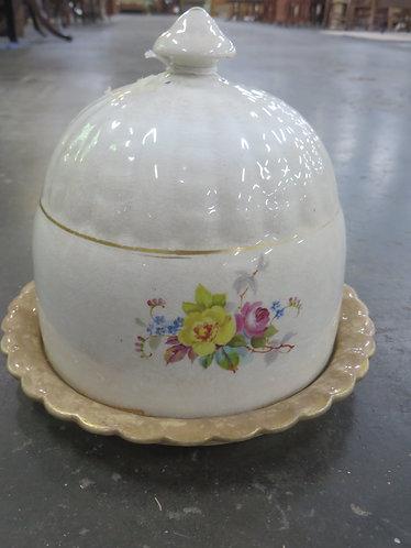 Antique Ceramic Dome Top Cheese Dish
