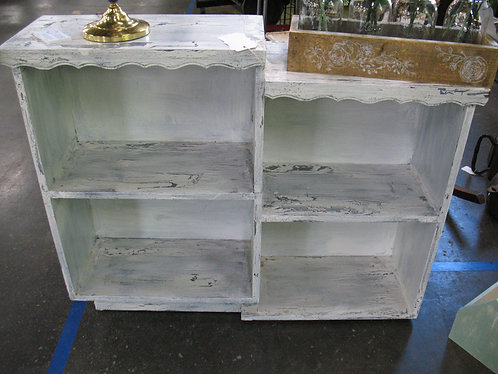 Vintage Crackle Stair Step Solid Wood Bookcase