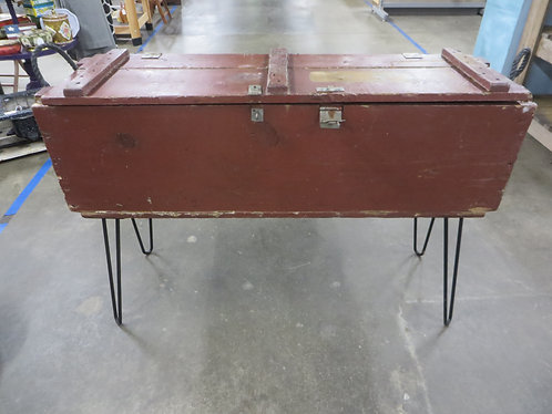 Vintage Military Box Console Table
