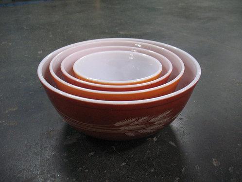 Vintage Pyrex Harvest Autumn Mixing Bowls Set of 4
