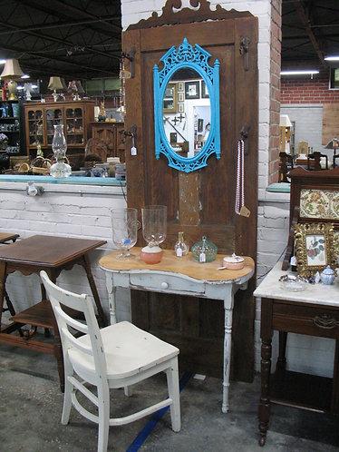 Vintage Country Vanity Door with Vanity Chair