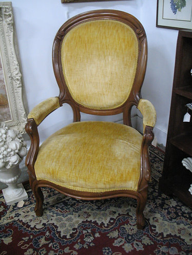 Antique Victorian Upholstered Parlor Chair